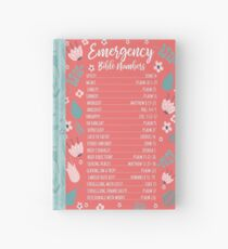 EMERGENCY BIBLE NUMBERS (FLORAL) Hardcover Journal