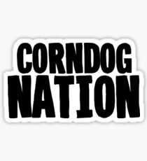 Corndog Nation Art Vegetarian Food Vegetables Sticker