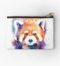 Red Panda Splash Watercolor Studio Pouch