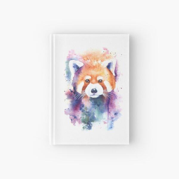 Red Panda Splash Watercolor Hardcover Journal