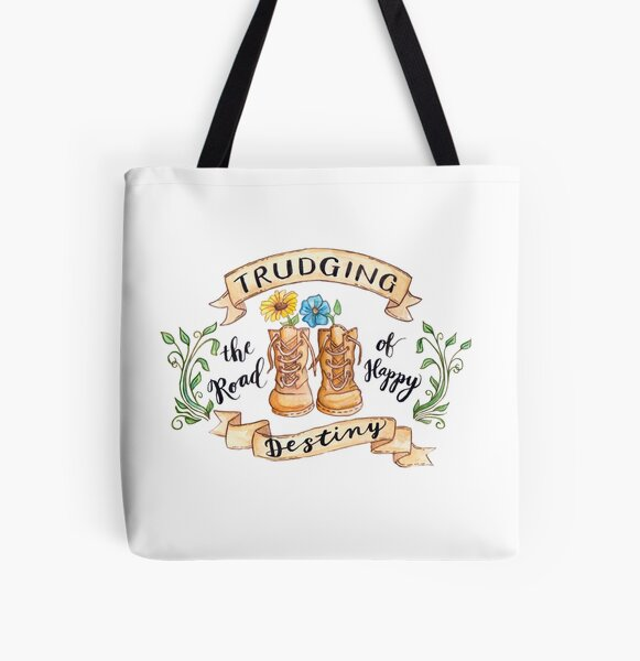 Trudging the Road of Happy Destiny All Over Print Tote Bag