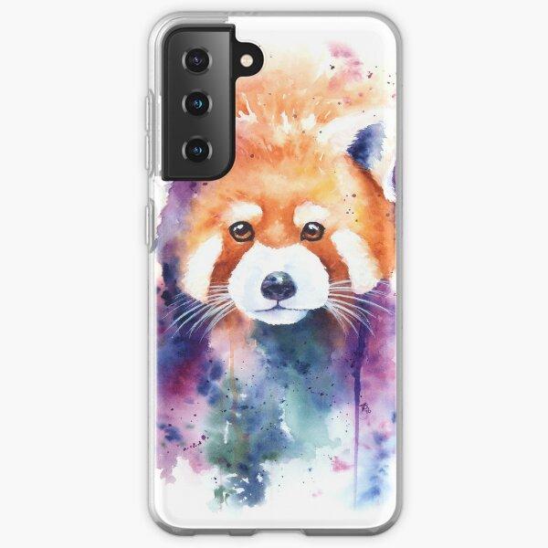 Red Panda Splash Watercolor Samsung Galaxy Soft Case