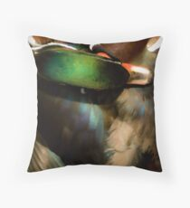 Wood Duck Abstract Throw Pillow