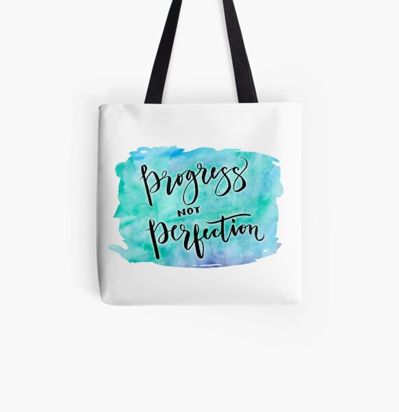 Progress not Perfection All Over Print Tote Bag