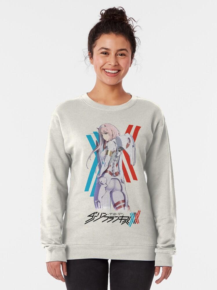 Alternate view of Darling In The Franxx -- Zero Two Pilot Suit Pullover Sweatshirt