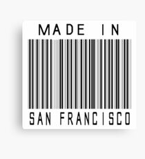 Made in San Francisco Canvas Print
