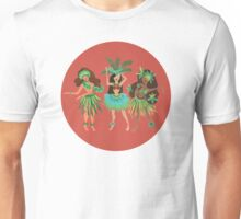 Luau Girls on Coral Unisex T-Shirt