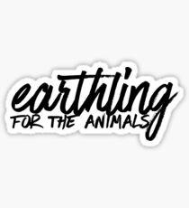 Earthling For The Animals Art Vegetarian Food Vegetables Sticker