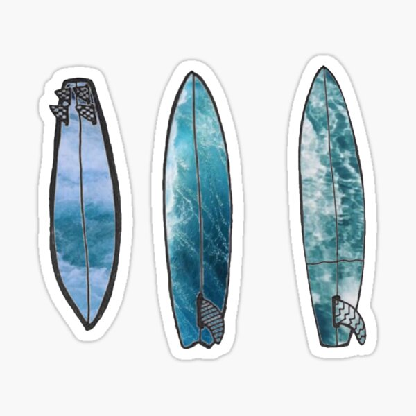 Wave Surfboards Tumblr Aesthetic Sticker By Smileyysnow Redbubble