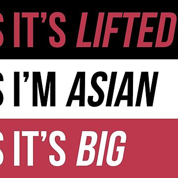 Lifted Asian Sticker - Red by GabJ