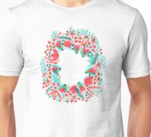 The Earth Laughs in Flowers – Pink & Charcoal Unisex T-Shirt