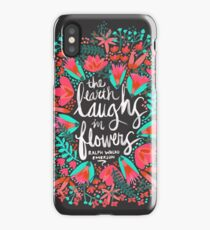 The Earth Laughs in Flowers – Pink & Charcoal iPhone Case