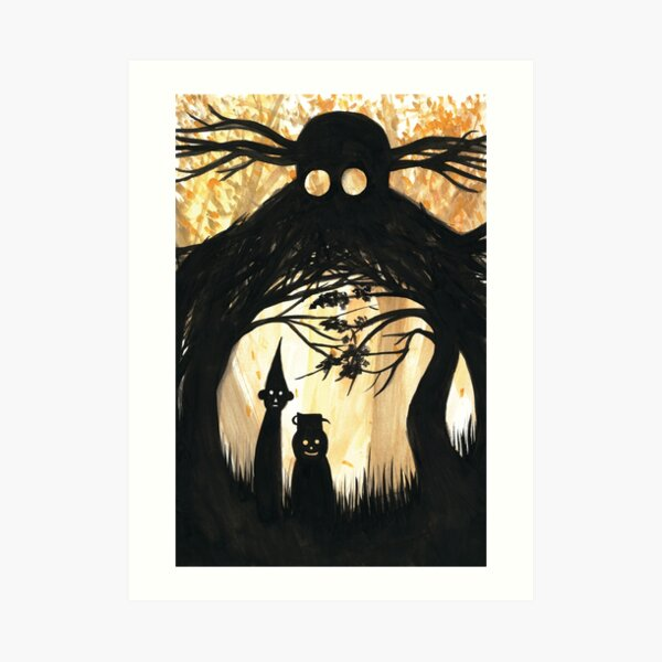 Over the Garden Wall Shadows Art Print