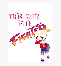This cutie is a fighter! tshirt edition Photographic Print