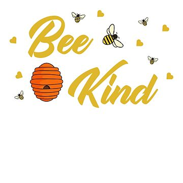 Bee Kind Shirt - Cute Bumble Bee and Hearts Kindness T-Shirt by FishShirt