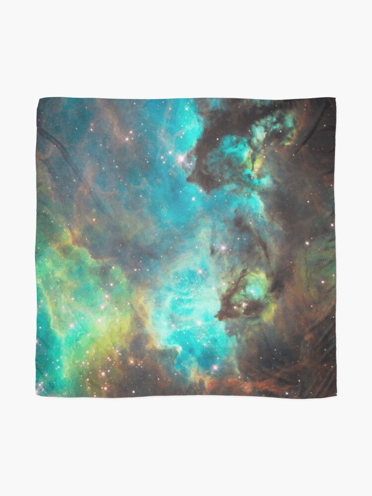 Alternate view of Green Galaxy Scarf
