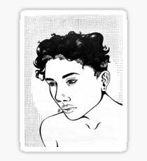 Pop Art Girl Sticker