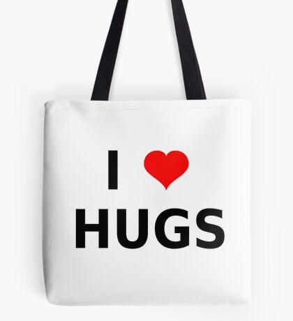 I LOVE HUGS T-SHIRTS MUGS LEGGINGS DUVET COVERS ETC Tote Bag