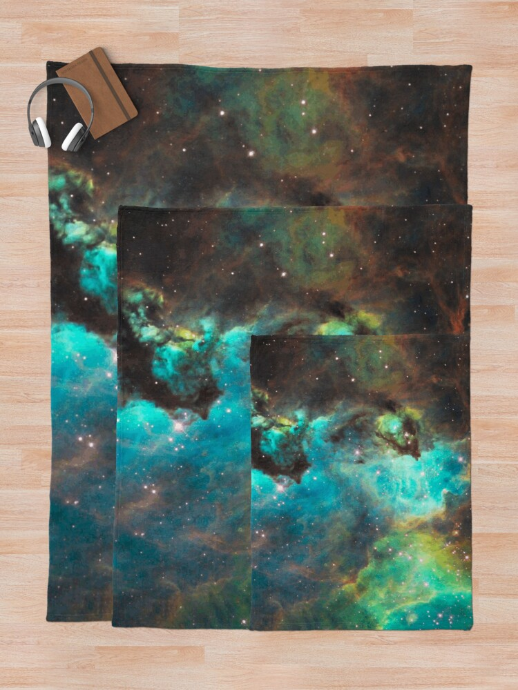 Alternate view of Green Galaxy Throw Blanket