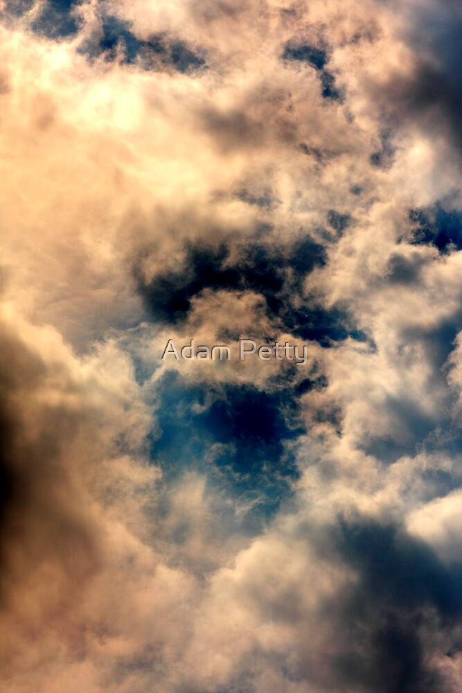 clouds in fuzzy blue by Adam Petty