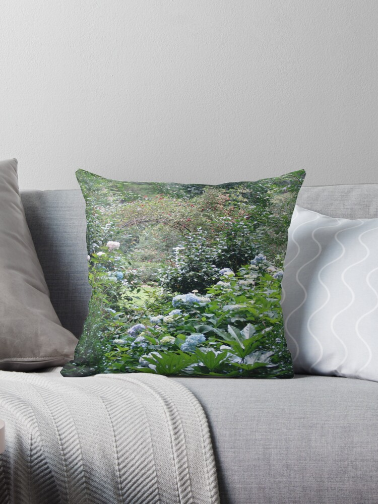 Hydrangea path - June's Garden by May Lattanzio