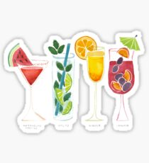 Summer Cocktail Trio Sticker