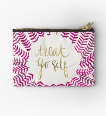 Treat Yo Self – Gold & Pink Studio Pouch