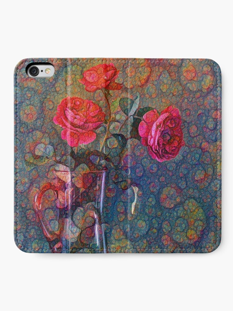 Alternate view of Roses #DeepDreamed iPhone Wallet