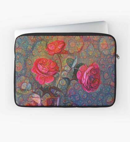 Roses #DeepDreamed Laptop Sleeve