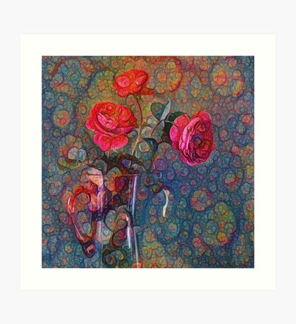 Roses #DeepDreamed Art Print