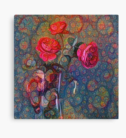 Roses #DeepDreamed Canvas Print