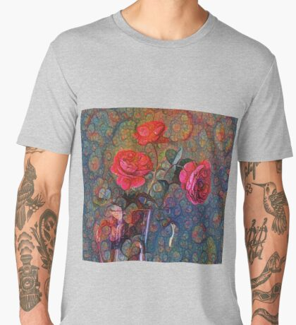 Roses #DeepDreamed Men's Premium T-Shirt