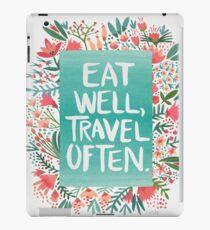 Eat Well, Travel Often – Bouquet iPad Case/Skin