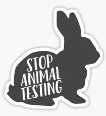 Stop Animal Testing + Foodie Food Restaurant Sticker