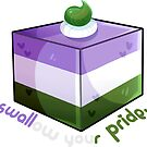 Gender Q. Cake by darkmagicswh
