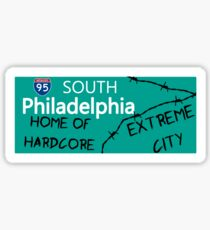 ECW Philadelphia - Hardcore City T shirt Sticker
