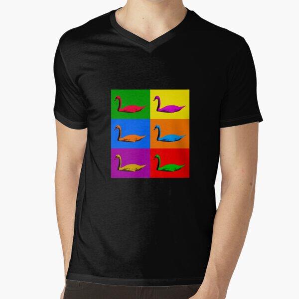 Warhol Pride Swans V-Neck T-Shirt