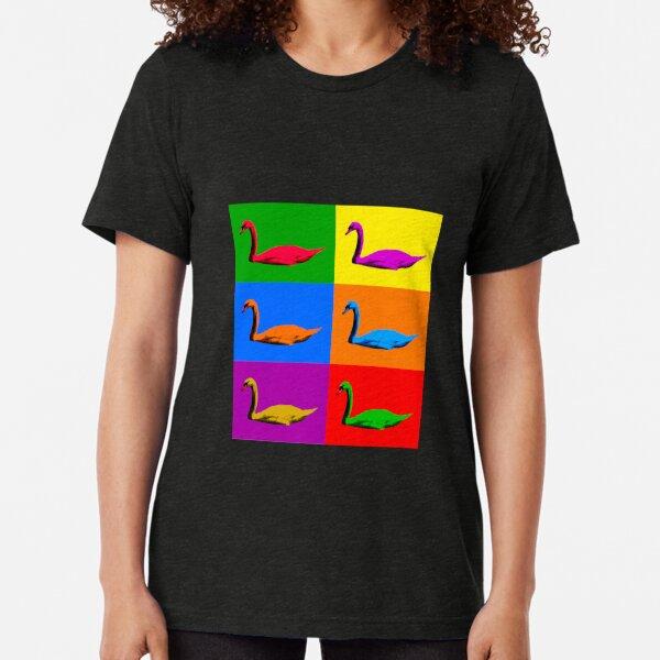 Warhol Pride Swans Tri-blend T-Shirt