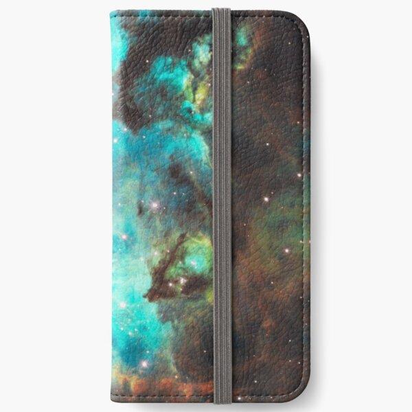 Green Galaxy iPhone Wallet