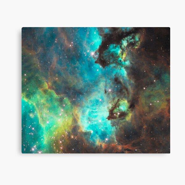 Green Galaxy Canvas Print