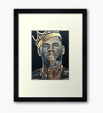 The King and His Rings Framed Print