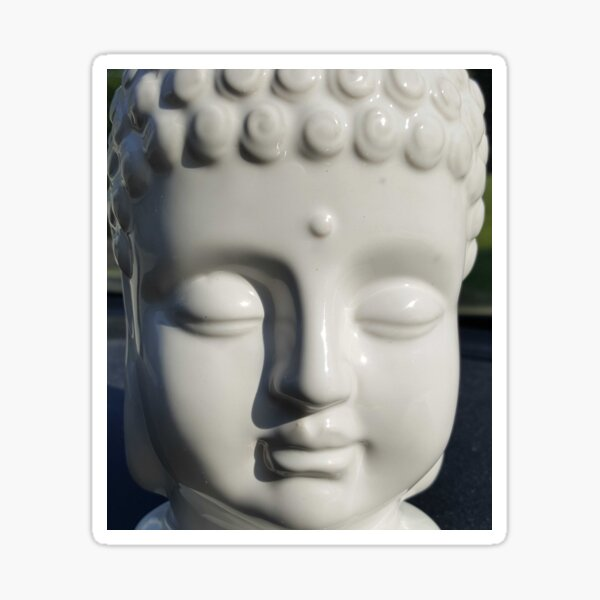 White Buddha Sticker