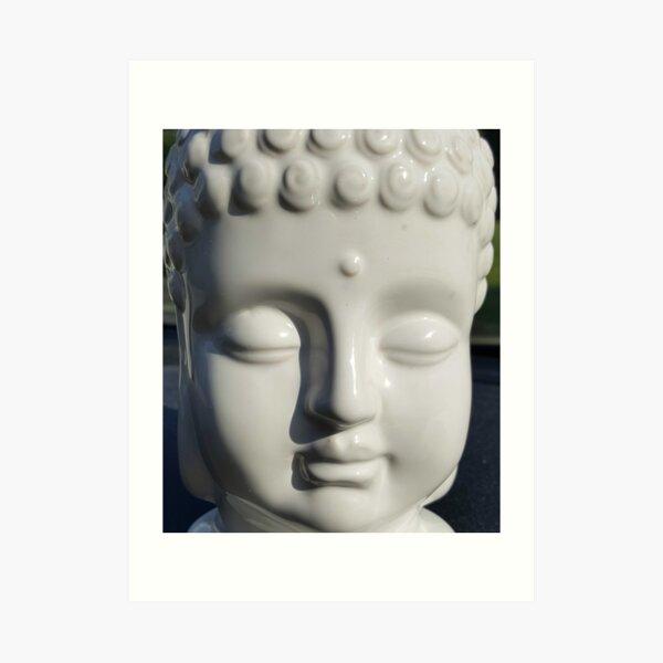 White Buddha Art Print