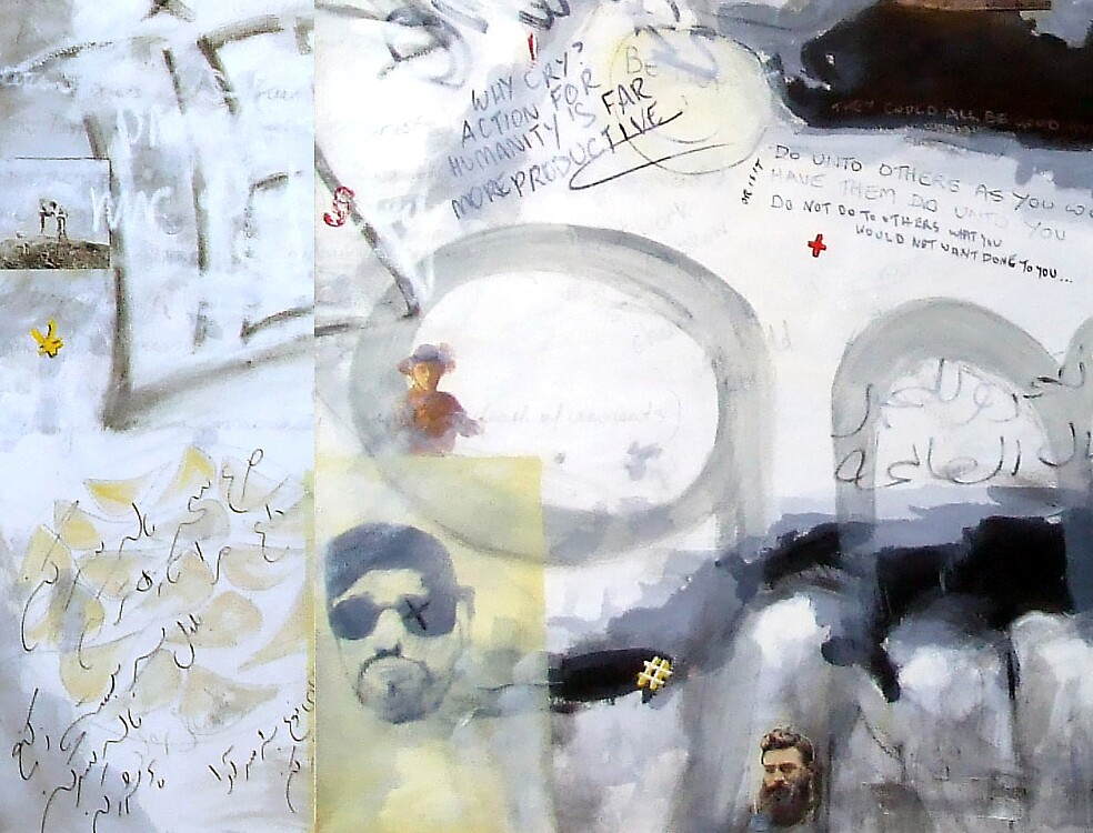 .   Hey Mr Cheney Sir! (Detail) by Peter Forward
