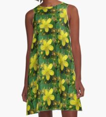 Yellow Flowers A-Line Dress