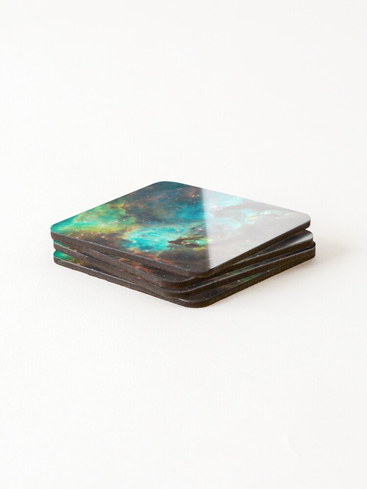Alternate view of Green Galaxy Coasters (Set of 4)