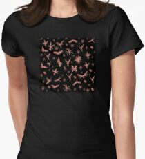 Faries Wings and Flowers Women's Fitted T-Shirt