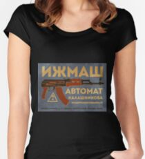 AK-47 (Blue) Women's Fitted Scoop T-Shirt