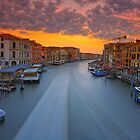 Sunrise over the Grand Canal by Delfino