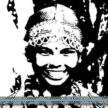 Darjeeling Girl with illusion frame  by zavi